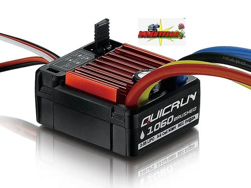 QuicRun ESC 1060 Brushed 60A for 1/10 HW30120200 waterproof Nimh-Lipo 2-3S bec 5v-2A