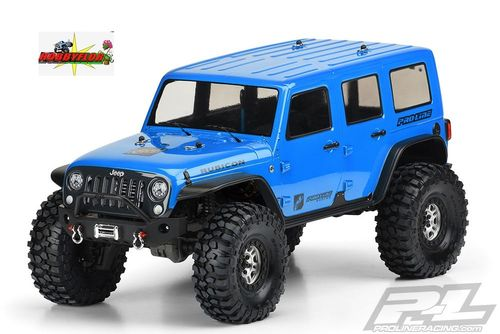 PROLINE JEEP WRANGLER RUBICON UNLIMITED CLEAR (SIN PINTAR) BODY (TRX-4) Wheelbase 325mm PL3502-00