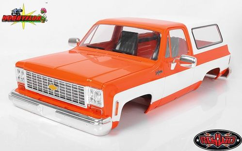 RC4WD CHEVROLET BLAZER HARD BODY COMPLETE SET (ORANGE) Wheelbase: 287mm Z-B0146