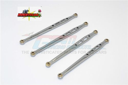 GPM Racing scx10 SCX049R-gs Aluminum Rear Chassis Links 4 Pcs Set (2-123mm y 2-131mm) GUM METAL