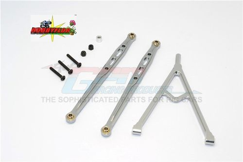 Axial SCX10 / FTX RAVINE Alluminum Links 3pcs Set (2x123mm + Y) - GPM SCX049F-GS Gum metal