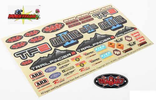 RC4WD LOGO DECAL y marcas SHEET Z-S1274