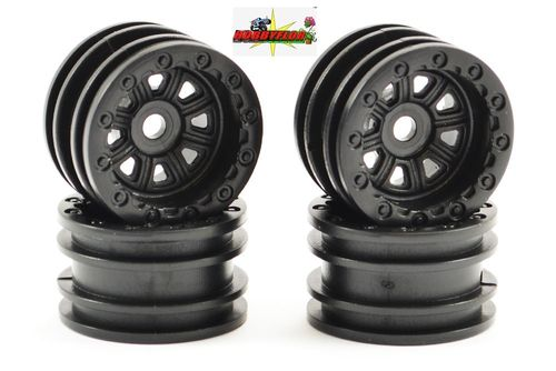 FTX OUTBACK MINI WHEEL 1.0 SET - BLACK (4PC) FTX8860BK