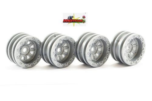 FTX OUTBACK MINI WHEEL 1.0 SET - GREY (4PC) FTX8860G