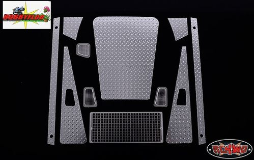 RC4WD DIAMOND PLATE ACCESSORY PACK FOR GELANDE II D90 BODY Aluminion adhesivo Z-S0985