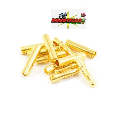 ETRONIX 4.0MM GOLD CONNECTORS (6 PAIRS MALE/FEMALE) ET0607