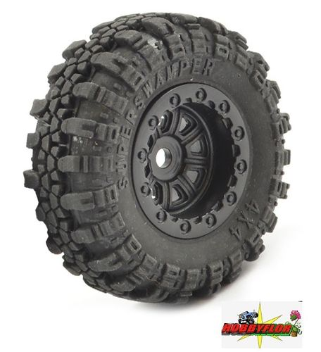 FTX OUTBACK MINI SWAMPER TIRE & WHEEL SET - BLACK (1PC) Para rueda de repuesto FTX8859BK-1