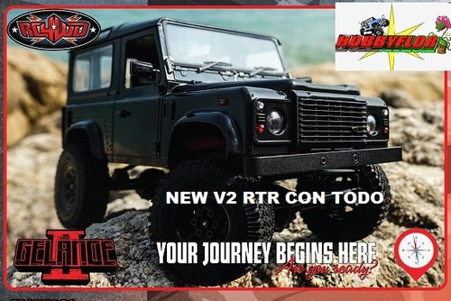 RC4WD 1/18 GELANDE II RTR W/D90 BODY SET (BLACK) NEW V2 Z-RTR0038