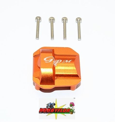 AXIAL Racing SCX10 II Aluminium Front/Rear Differential Cover 1pc set (AX31384) GPM SCX2012A Naranja