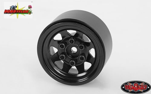 RC4WD STAMPED STEEL 1.0 STOCK BEADLOCK WHEELS (BLACK) (4pc) hex 7mm Z-W0229