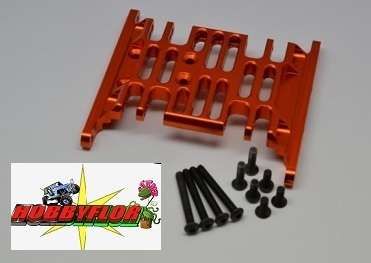 Axial Racing SCX10 Alloy Center Frame Brace - 1set - GPM SCX038B Naranja