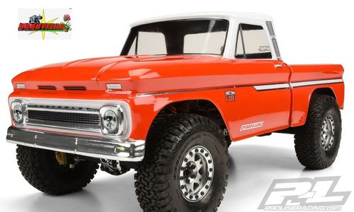 PROLINE 1966 CHEVROLET C-10 CLEAR BODY (CAB+BED) SCX10 WB-313mm PL3483-00