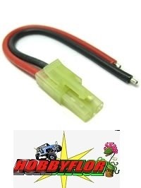 ETRONIX MALE MICRO TAMIYA CONNECTOR WITH 10CM 18AWG SILICONE WIRE ET0626