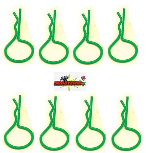 FASTRAX FLOURESCENT GREEN LARGE CLIPS (8pc) FAST213FG
