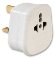 Adaptor For Using 2-pin Flat or Round Pin Plugs in the UK