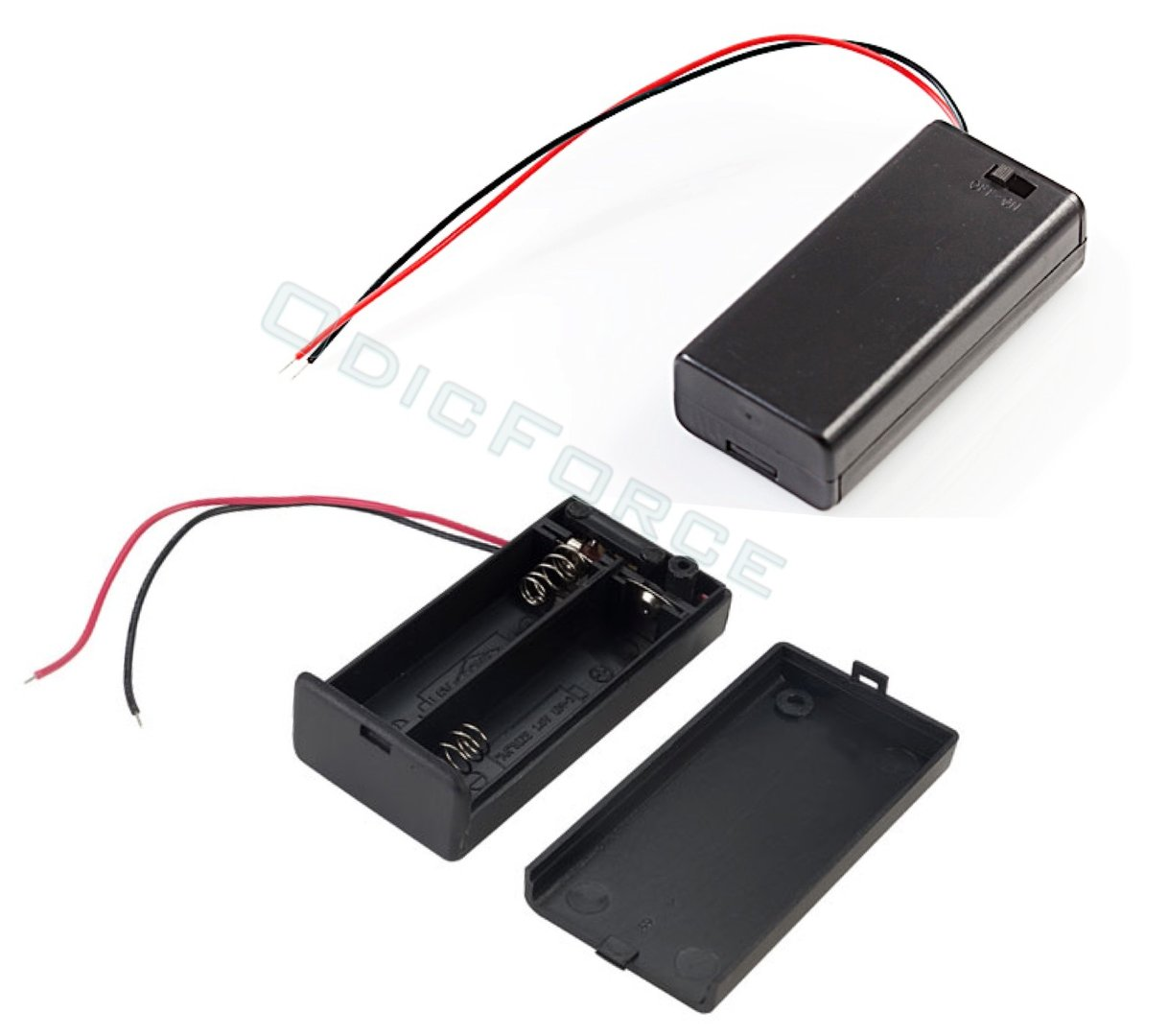 Switched Battery Box (2 x AA Batteries)