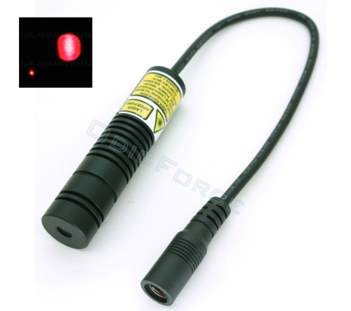 200mW Focusing Red (650nm) Laser Module, Spot or Dot Pattern (16mm)