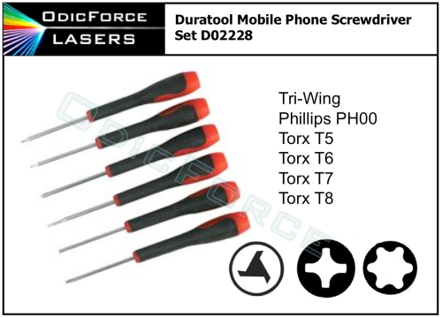 Duratool Mobile Phone Screwdriver Set
