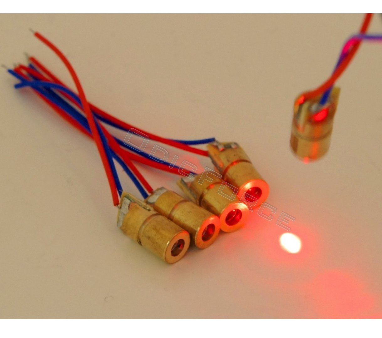 Focusing 6mm Micro Red Laser Module (3V, 5-pack)