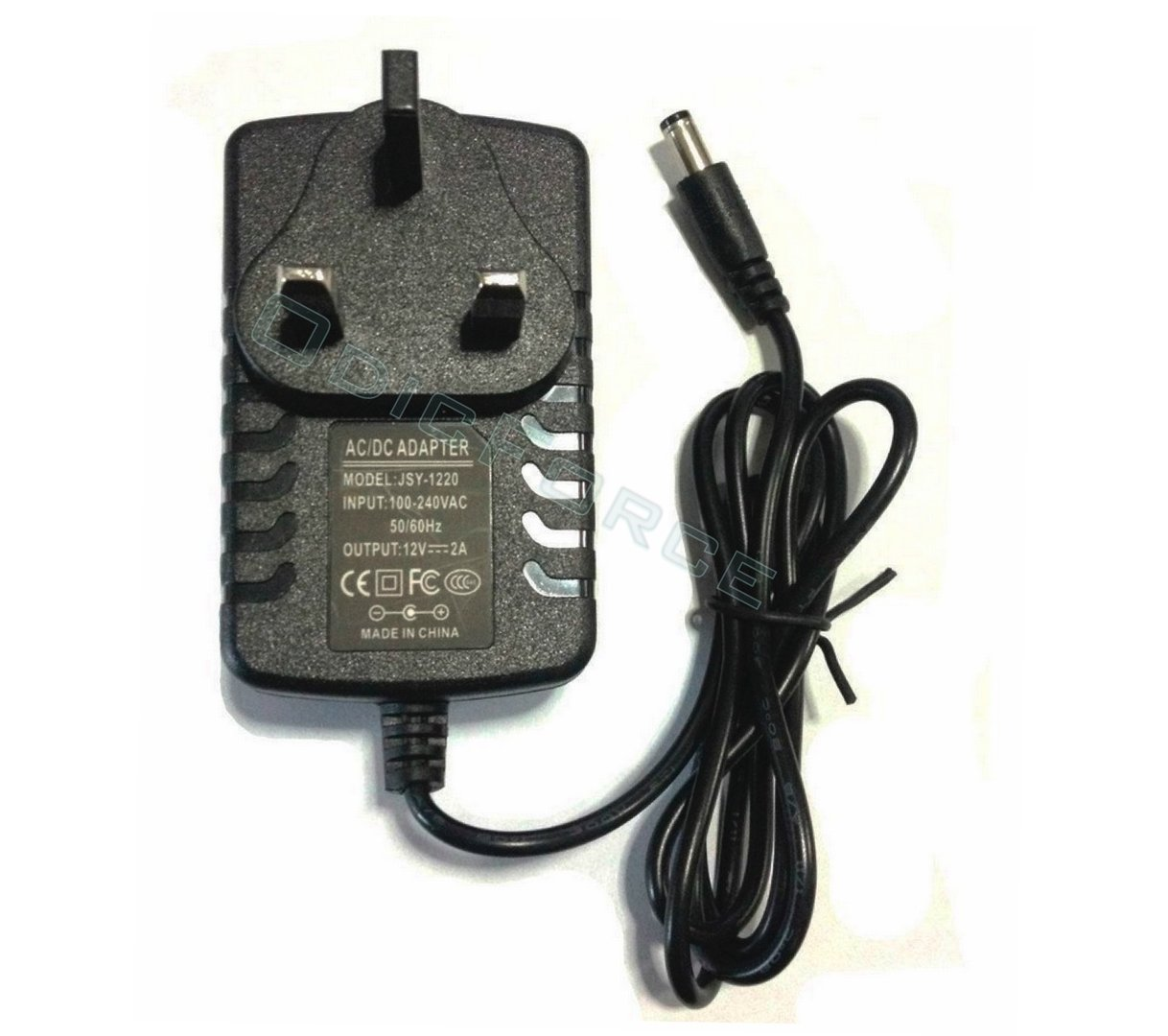 UK DC 12V 2A Power Supply Adapter 100-240V Input,  5.5mm x 2.1mm Connector