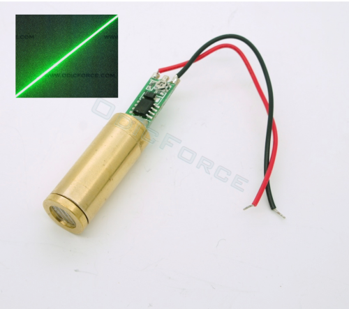 5mW Green (532nm) Line Laser Module (12mm Compact)