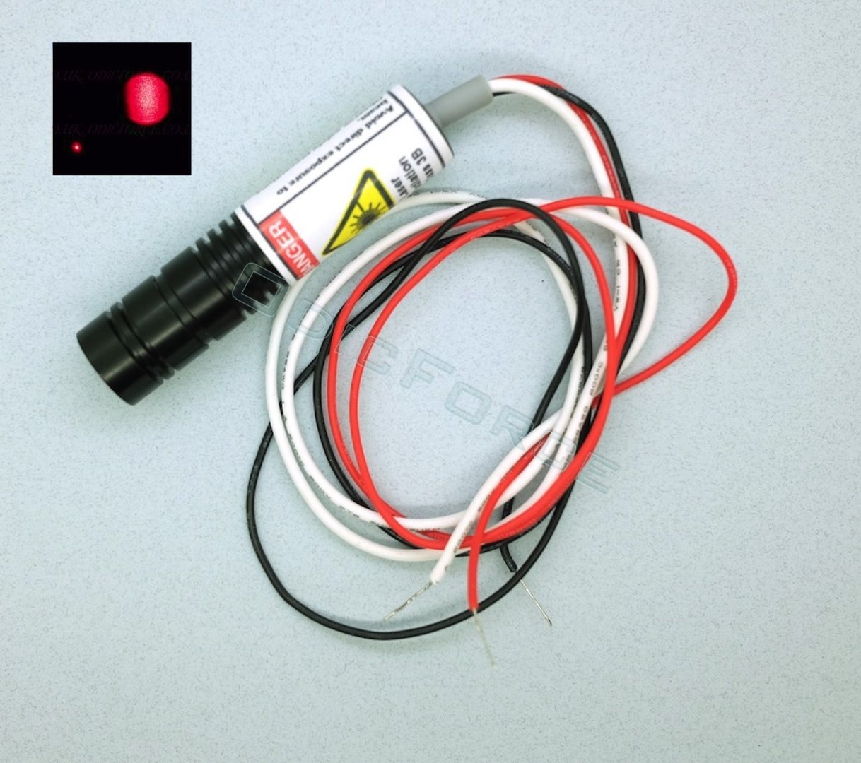 100mW Red (650nm) Laser Diode Module with Built-in 5V Driver, TTL Modulation (16mm)