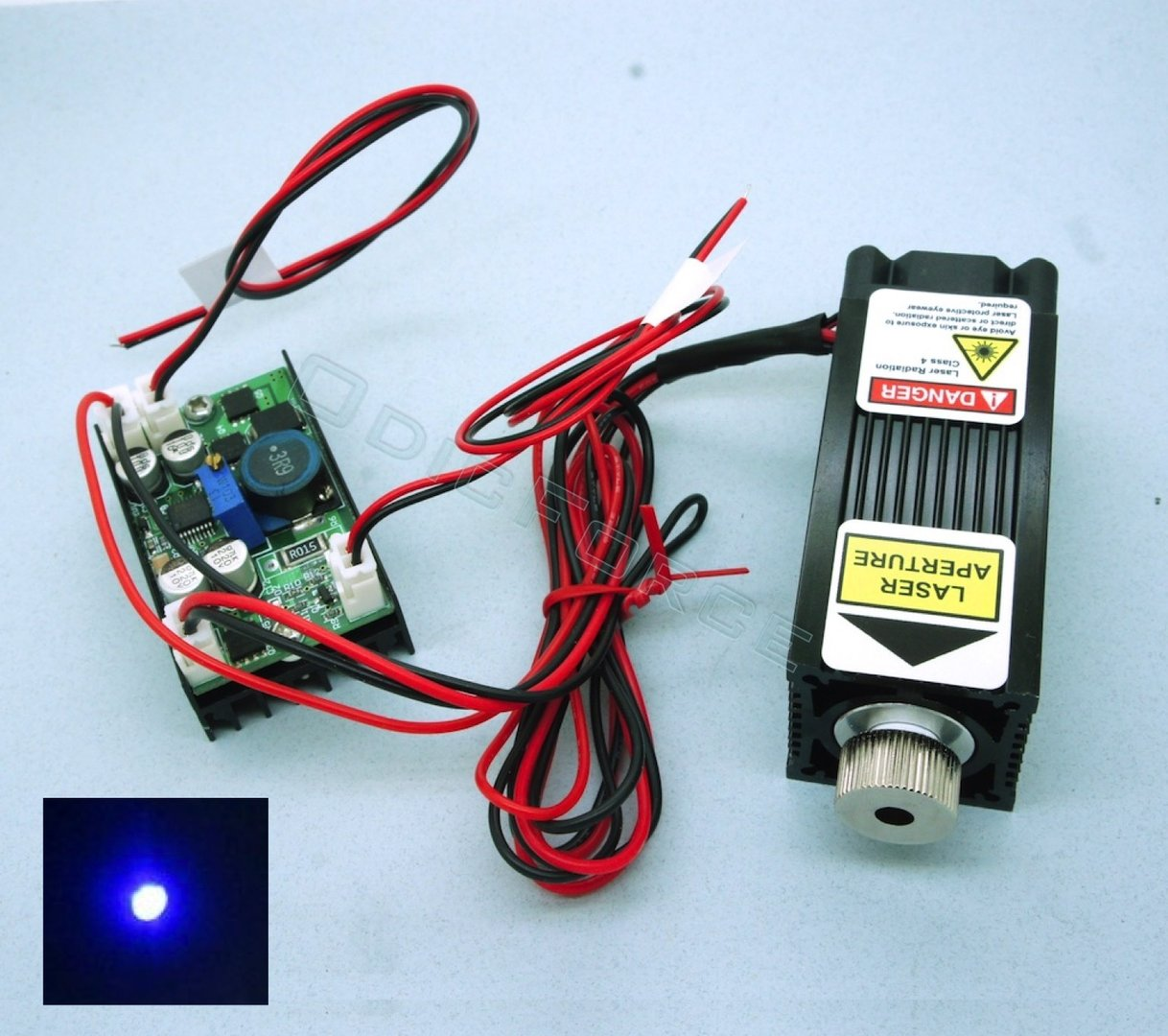 5W 450nm Blue Focusing Laser Module (12V) with TTL Driver