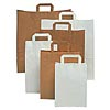 "10 x 15.5 x 12.5"" White Paper Tape Carrier Bag"