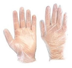 Natural Vinyl Powdered Disposable Gloves