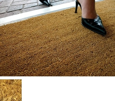 LIGHT BROWN COIR(coconut) ENTRANCE MATTING - 1mx1m