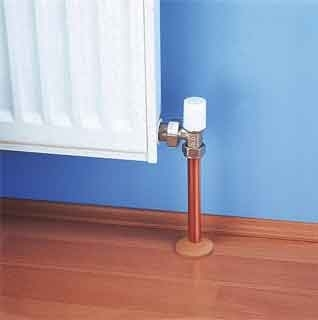 Radiator Pipe Roses - SOLID BEECH WOOD pack of 2