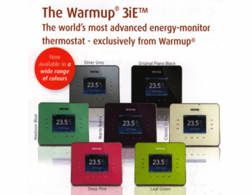 WARMUP 3iE Thermostatic Controller Silver,Green,Blue,Pink or Berry...online £116.99+vat