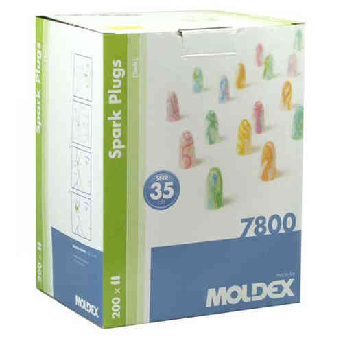 MOLDEX Spark Plugs® Ear Plugs 7800 Box of 200 Pairs 35dB