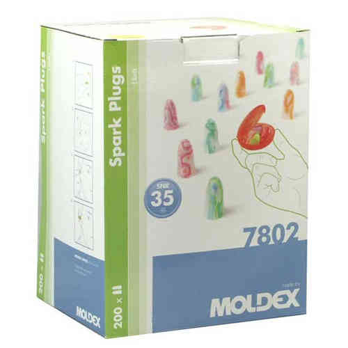MOLDEX Spark Plugs® Ear Plugs 7802 Box of 200 Pairs