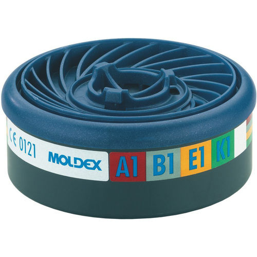 1 Pair Moldex 9400 Easylock Gas Filter Cartridge