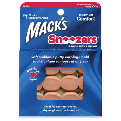 Mack'sSnoozers silicone putty earplugs  6 Pairs