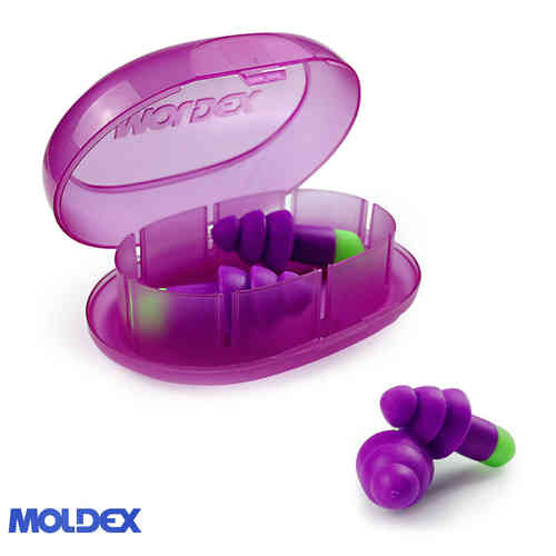 Moldex Reusable Rocket Uncord Earplugs 6400 SNR:30dB