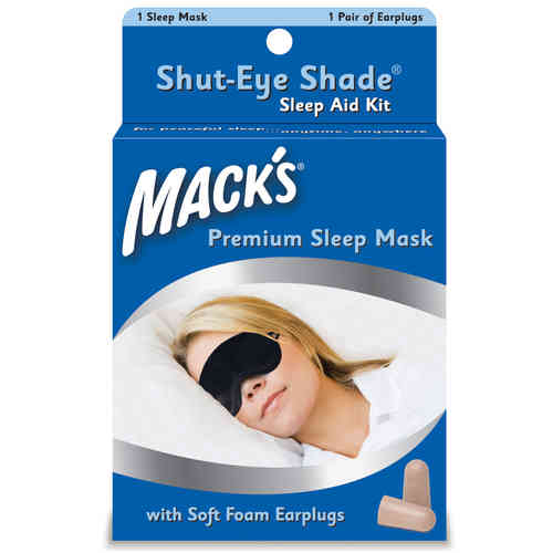Mack's Shut-Eye Shade Sleep Aid Kit--Premium Sleep Mask