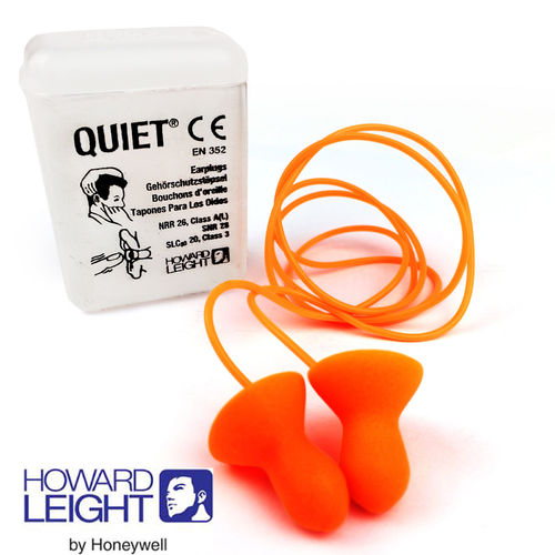Howard Leight by Honeywell Quiet Corded Reusable Earplugs SNR 28 dB