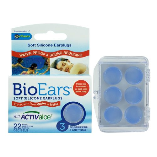 Cirrus Healthcare BioEars Soft Silicone Earplugs - 3 Pairs