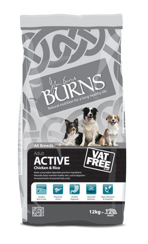 Burns Adult Working Active Chicken & Rice 12kg