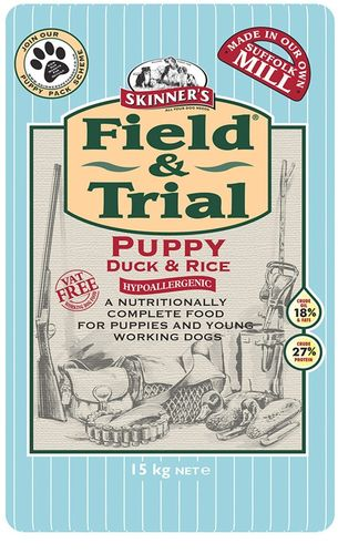 Skinners Field and Trial Hypoallergenic Puppy Duck & Rice 15kg