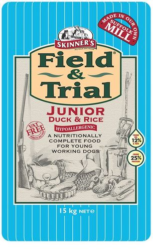 Skinners Field and Trial Hypoallergenic Junior Duck & Rice 15kg