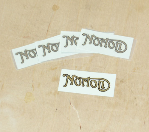 Norton Rear Mudguard Transfer - Gold