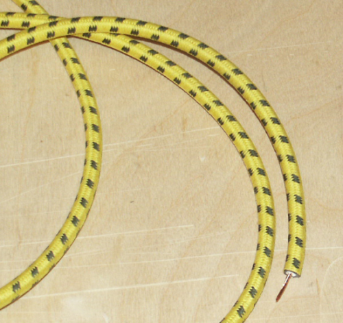 HT Cable - Yellow and Black Cloth : Competition Lead 1930's-40's
