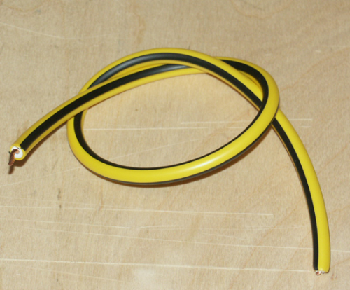 HT Cable - Yellow and Black PVC : Competition Lead 1950's-60's