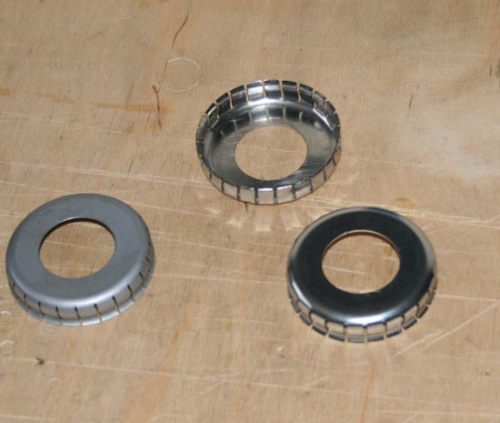 Norton 'Flat Type' Pressed Wheel Bearing Dust Cover - Semi Polished