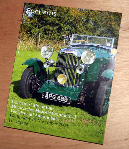 Bonhams Catalog - 18th November 2009: Harrogate Mortor Cars, Motorcycle, Commercial Vehicles Auction