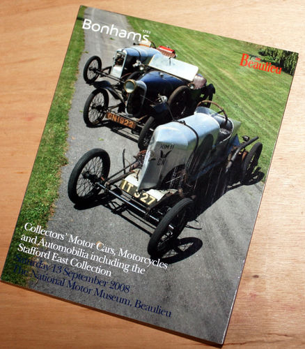 Bonhams Catalog - 13th September 2008: Beaulieu Museum - Cars & Motorcycle Auction