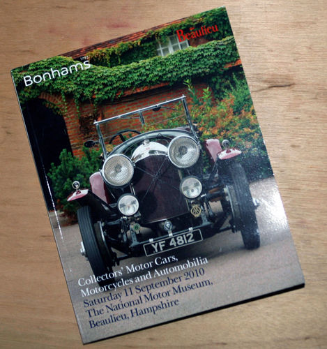 Bonhams Catalog - 11th September 2010: Beaulieu Museum - Cars & Motorcycle Auction